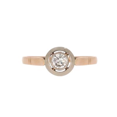 Pierścionek zaręczynowy z brylantem ze złota KAREA ID 00192