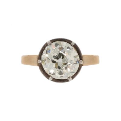 Pierścionekz zaręczynowy z okresu międzywojennego z diamentem KAREA ID 000548