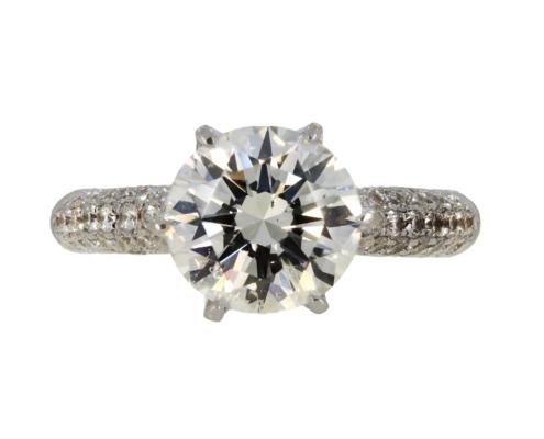 Pierścionek zaręczynowy zbrylantem 2,53 ct zbiałego złota aukcja KAREA ID 000862