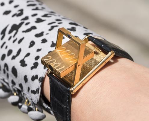 Zegarek Cartier Mecanique złoty aukcja KAREA ID 000840