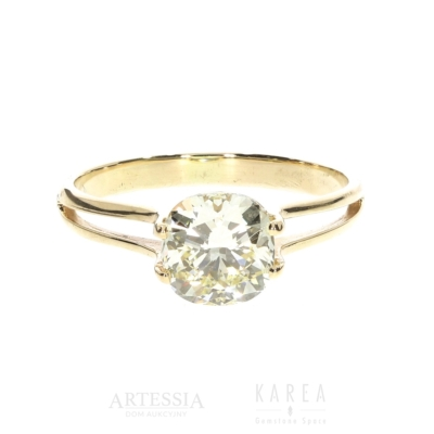 Pierscionek zaręczynowy zzółtym diamentem KAREA ID 000826