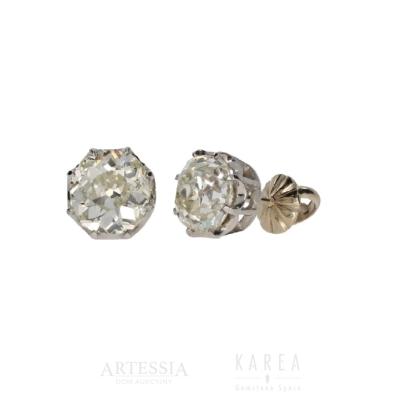 Kolczyki diamenty nasztyftach aucja KAREA ID 000919