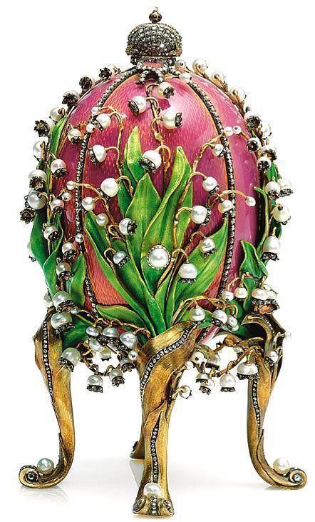 Jajko zkonwaliami (The Lilies of the Valley egg), 1898. Prezent dla Marii Fiodorowny