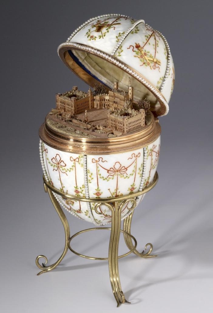 Jajko zminiaturą pałacu wGatczynie (Gatchina Palace Egg), 1901
