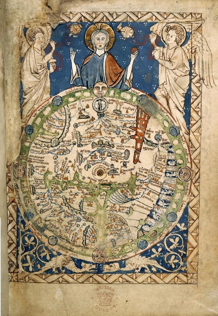 Przedstawienie Jezusa panującego nadlogosem-perłą, 1265 r., dziś wBritish Library.