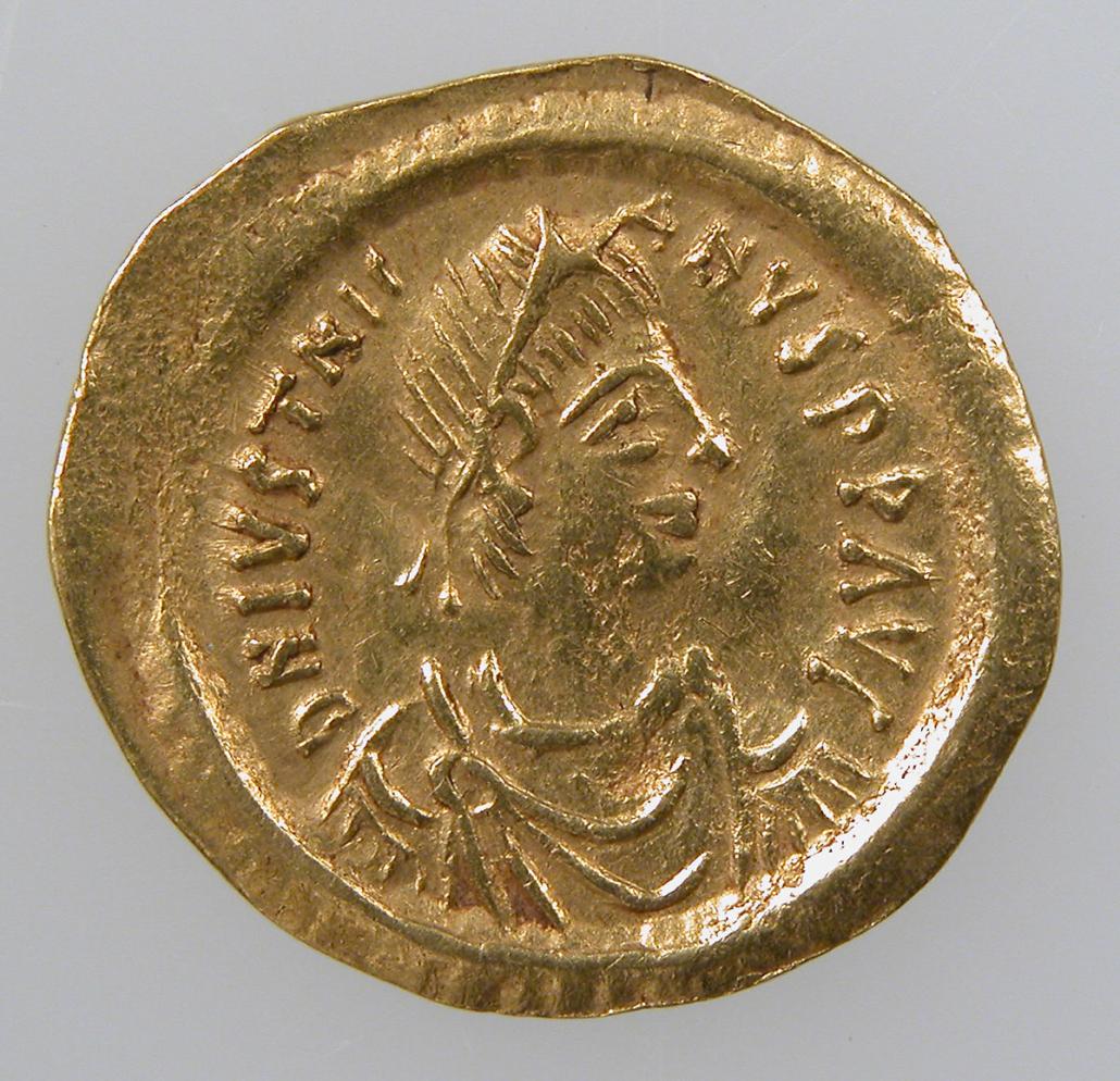 Tremissis cesarza Justyniana
