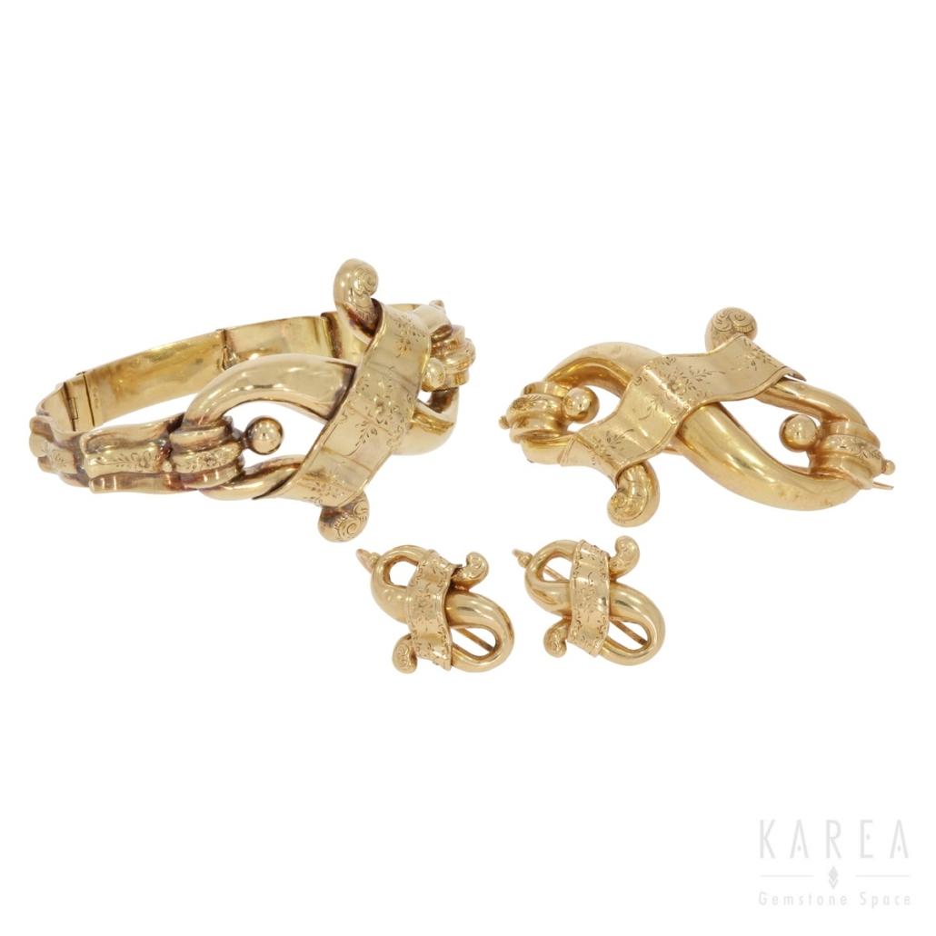 Komplet biżuterii biedermeier