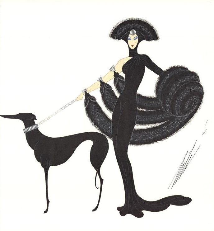 Erté, Symphony in Black; zwierzęta