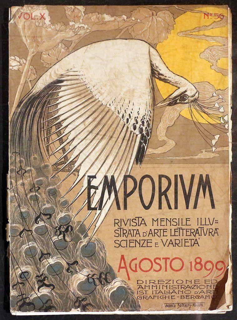 Umberto Bottazzi, okładka włoskiego magazynu Emporium, 1899; zwierzęta