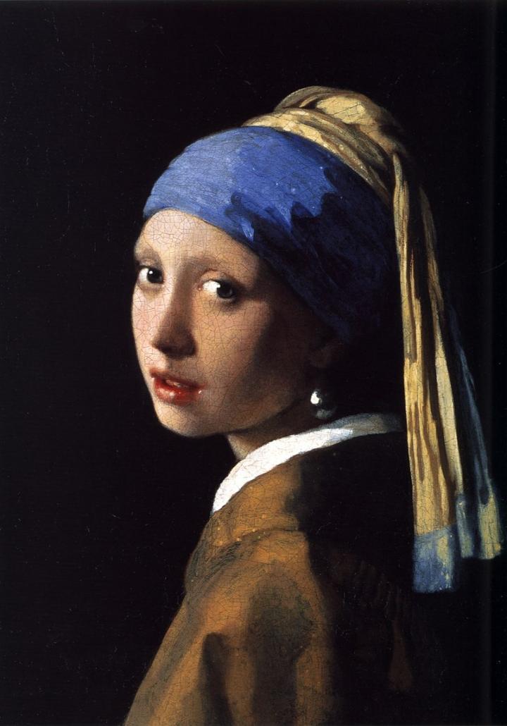 Johannes Vermeer, Dziewczyna zperłą, ok. 1664; źródło: domena publiczna, perły
