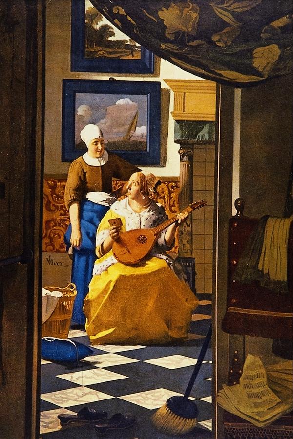 Johannes Vermeer, List miłosny, ok. 1669; źródło: domena publiczna, perły